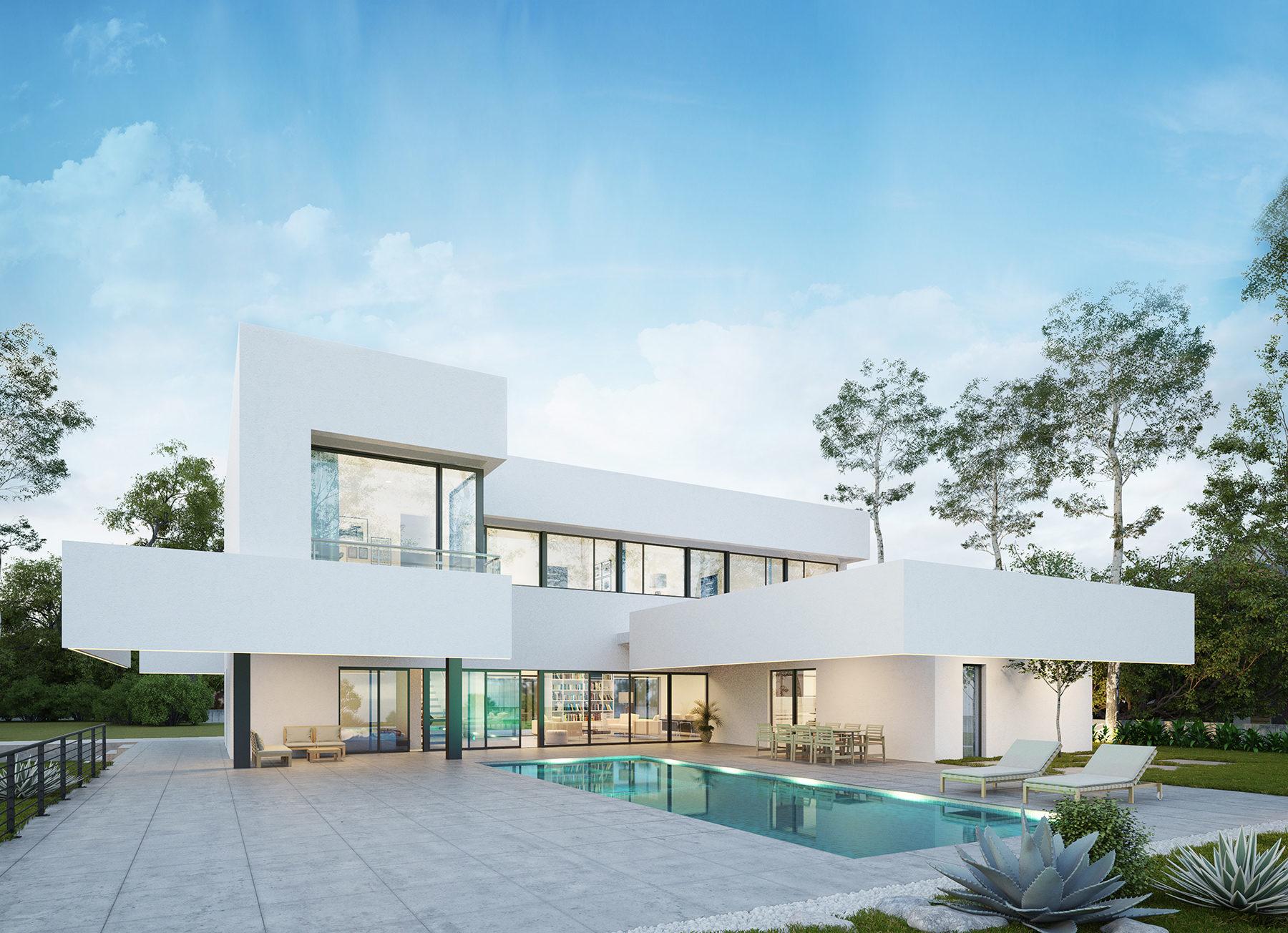 Vivienda unifamiliar en alicante villa in alicante cor - Arquitectos en alicante ...